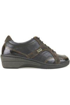 Baskets Susimoda WALKSAN sneakers marron cuir daim AJ687(115400273)
