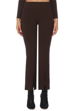 Etty & Jacques Kadın Caroline Kahverengi Yırtmaçlı Triko Pantolon S EU(120730906)