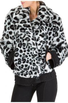 Faux fur jacket women love me wild(116789174)