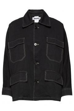 Away Jacket Outerwear Jackets Utility Jackets Schwarz HOPE(117615439)