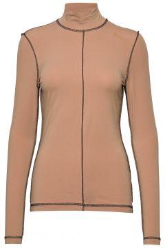 Light Stretch Jersey Langärmliges T-Shirt Pink GANNI(114157832)