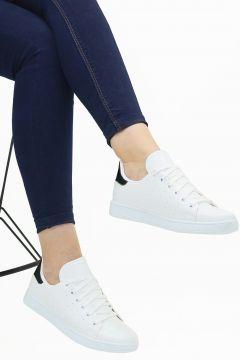Ayax Beyaz Kadın Sneaker Beyaz 37 Beden(116843194)