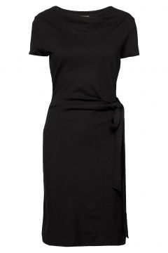 Lily Ecovero Dress Kleid Knielang Schwarz RESIDUS(109152163)