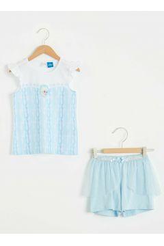 Çocuk Kız Çocuk Elsa Baskılı Pijama Takımı(124994186)