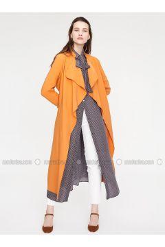 Orange - Unlined - Trench Coat - Minimal Moda(110331159)