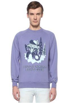Billionaire Boys Club Erkek Diamond Character Mor Baskılı Sweatshirt M EU(108579543)