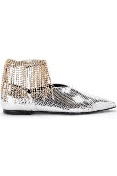 Ville basse Coliac Ballerina Daisy in pelle argento e strass(115574127)