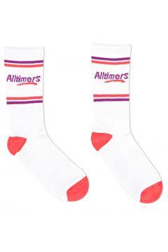 Alltimers Estate Sports Socks - White Red Purple(115307070)