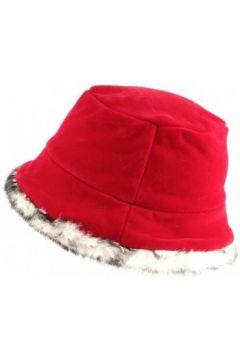 Chapeau Nyls Création Chapeau Cloche Rouge avec Fourrure Lola(115397452)