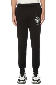 Versace Erkek Siyah Logolu Dar Paça Eşofman Altı S EU(126848092)