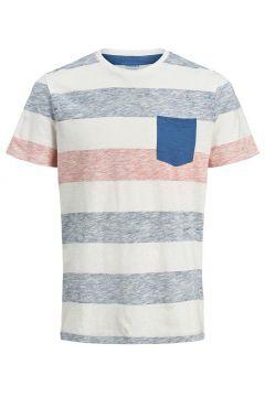 JACK & JONES Striped T-shirt Men Blue(111096701)