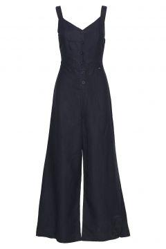 Eden Linen Jumpsuit Jumpsuit Blau SUPERDRY(114156433)