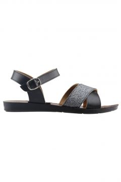 Ayakland Siyah Kadın Sandalet(118497778)