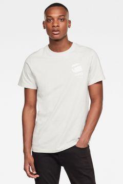 G-Star RAW Men Big Logo Back GR T-Shirt Grey(117926922)