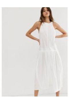 Weekday - Limited Edition - Weißes Popeline-Kleid - Weiß(93482395)