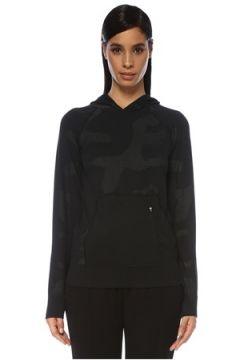 Jerf Kadın Bandon Siyah Kapüşonlu Desenli Sweatshirt S/M EU(119229912)