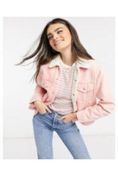 Levi\'s - Giacca trucker di jeans stile boyfriend con pile borg rosa(121293945)