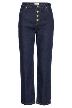 Nancy Straight Jeans Hose Mit Geradem Bein Blau BAUM UND PFERDGARTEN(116778888)
