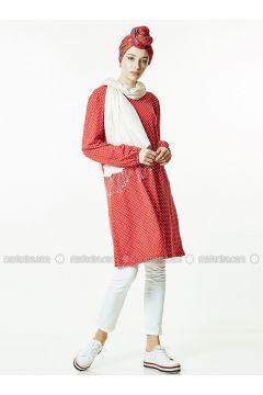 Red - Polka Dot - Tunic - Gippe Collection(110313425)