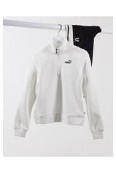 Puma - Essential - Felpa con zip corta bianca-Bianco(122557150)