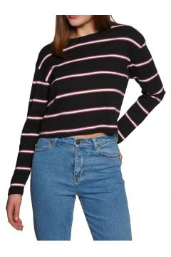 SWELL Swell Cropped Langarm-T-Shirt - Black Stripe(100260706)