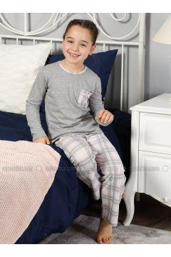 Gray - Crew neck - Multi - Kids Pijamas - Elitol Pijama(110313276)