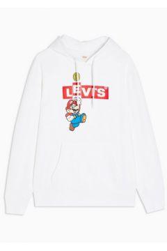 Sweat à capuche blanc Mario par Levi\'s(110404126)