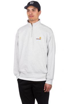 Carhartt WIP American Script Half Zip Sweater grijs(92509304)
