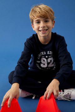 DeFacto Erkek Çocuk Tişört ve Eşofman Alt Takım(125928303)