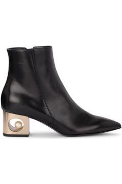 Boots Coliac Demi-botte Pieter en peau noire avec perle(115417877)