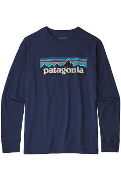 Patagonia Graphic Organic Long Sleeve T-Shirt p/6 logo classic navy(97767223)