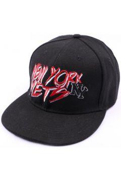 Casquette Hip Hop Honour Casquette NY fitted noire et rouge(88487426)