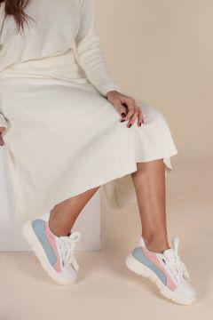 İnan Ayakkabı Beyaz Pudra Kadın Yürüyüş Ayakkabısı(114211242)