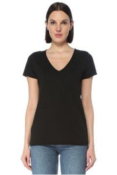 Allsaints Kadın Emelyn Tonic Siyah V Yaka Basic T-shirt S EU(126795835)