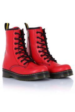 sothe shoes Ss-500 Kırmızı Deri Kadın Bot Bağcıklı Postal Ayakkabı(114222310)