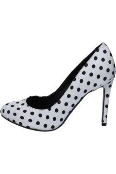 Chaussures escarpins 18 Kt escarpins noir blanc textile BS179(115443116)