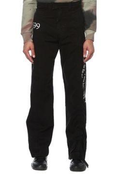 Off-White Erkek Siyah Beyaz Yüksek Bel Bol Paça Pantolon 30 US(120885463)