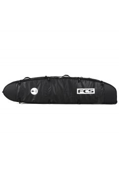 FCS Travel 2 Wheelie Longboard Surfboard Bag - Black/grey(110360614)