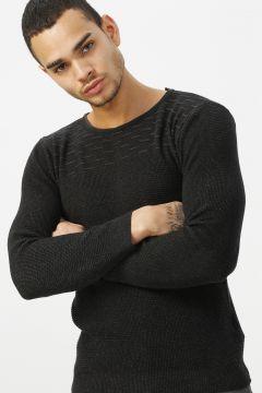 Twister Jeans Siyah Desenli Kazak(113971778)