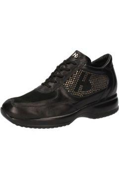 Chaussures Hornet Botticelli sneakers noir cuir daim strass AE478(115399498)