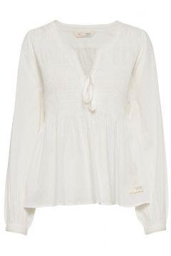 Dotty Dobby Blouse Bluse Langärmlig Creme ODD MOLLY(100250381)