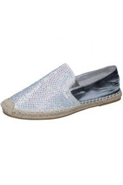 Chaussures Sara Lopez espadrillas argent textile strass BY241(115400996)