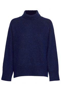 Emily Rollkragenpullover Poloshirt Blau DAGMAR(114152695)