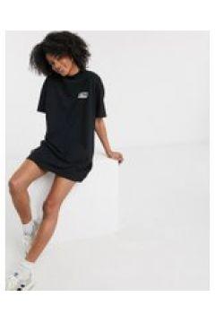 Dr Denim - Vestito T-shirt nero con logo(112348425)