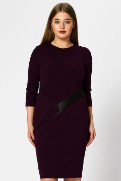 Selen Deri Detaylı Mo Elbise(113971457)