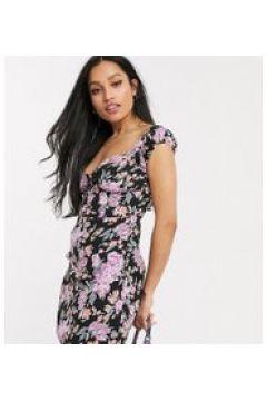 Fashion Union Petite - Vestito corto strutturato con scollo profondo-Nero(120330705)