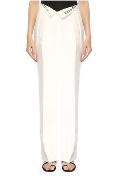 Alexander Wang Kadın Beyaz Beli Kat Detaylı Pilili Pantolon 2 US(117384918)