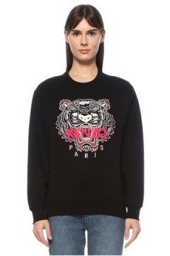 Kenzo Kadın Siyah Kaplan Nakışlı Sweatshirt S EU(124607148)