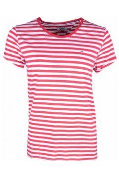 T-shirt Tommy Jeans T-shirt rayé rouge et blanc pour femme(115399704)