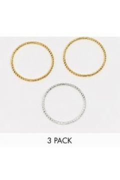 Whistles - Confezione da 3 anelli incisi oro(112975137)
